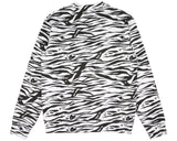 Billionaire Boys Club Spring '17 ZEBRA CAMO ALL-OVER PRINT CREWNECK - WHITE