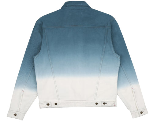 DIP DYE TRUCKER JACKET - NAVY