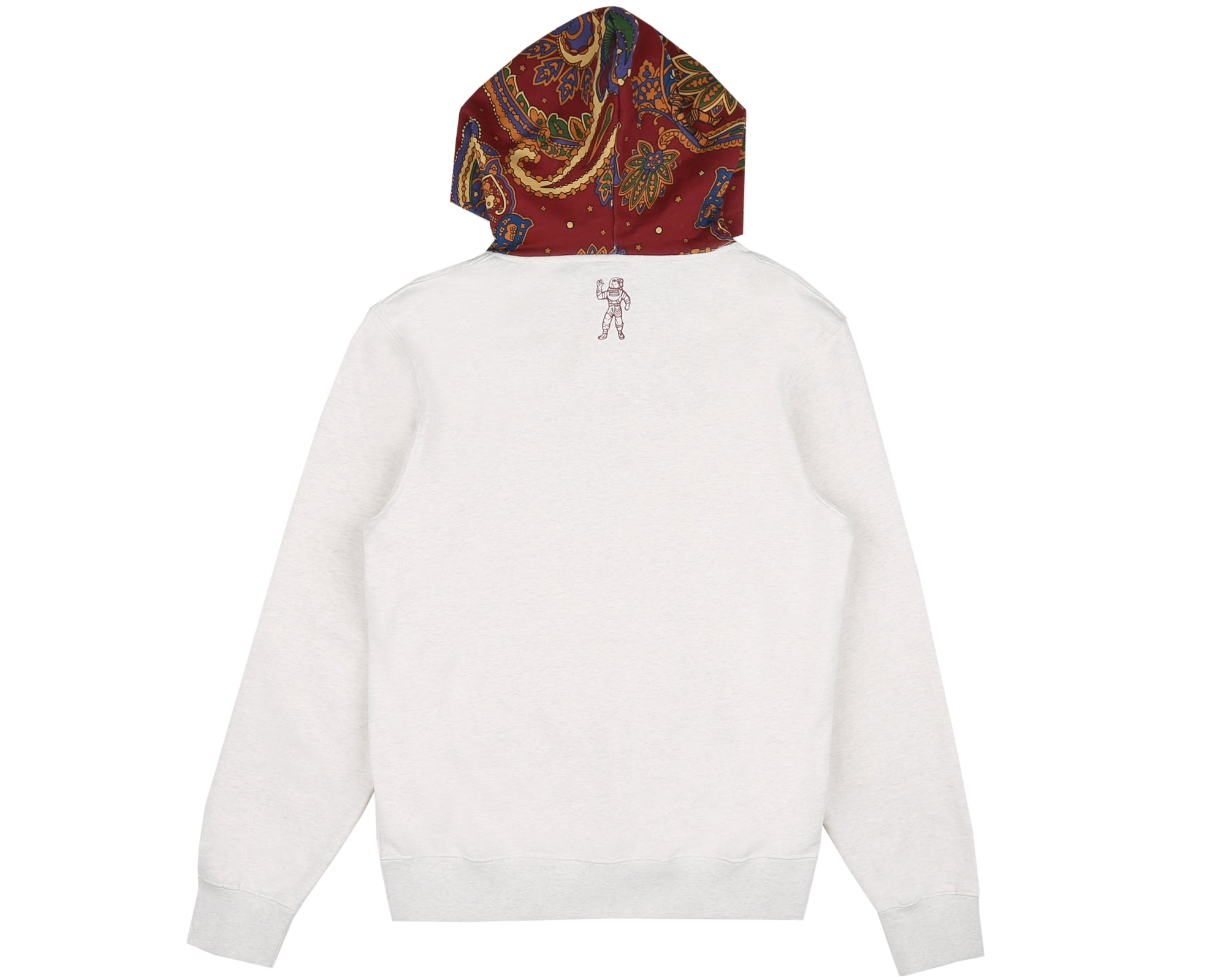 PAISLEY CONTRAST POPOVER HOOD - WHITE