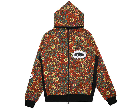 Billionaire Boys Club Spring '18 PEYOTE PRINT ZIP HOOD - ORANGE