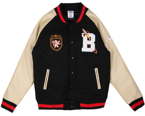 Billionaire Boys Club CLUB VARSITY JACKET - BLACK/BEIGE