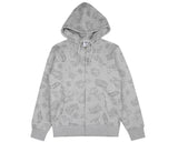 Billionaire Boys Club Spring '17 GALAXY ALL-OVER PRINT ZIP THROUGH HOODIE - HEATHER GREY
