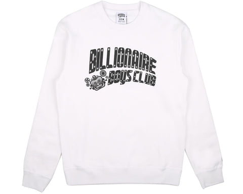 BBCICECREAM MECHANICS CREWNECK - WHITE