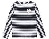 Billionaire Boys Club Spring '17 DAMAGE STRIPE L/S T-SHIRT - WHITE/NAVY
