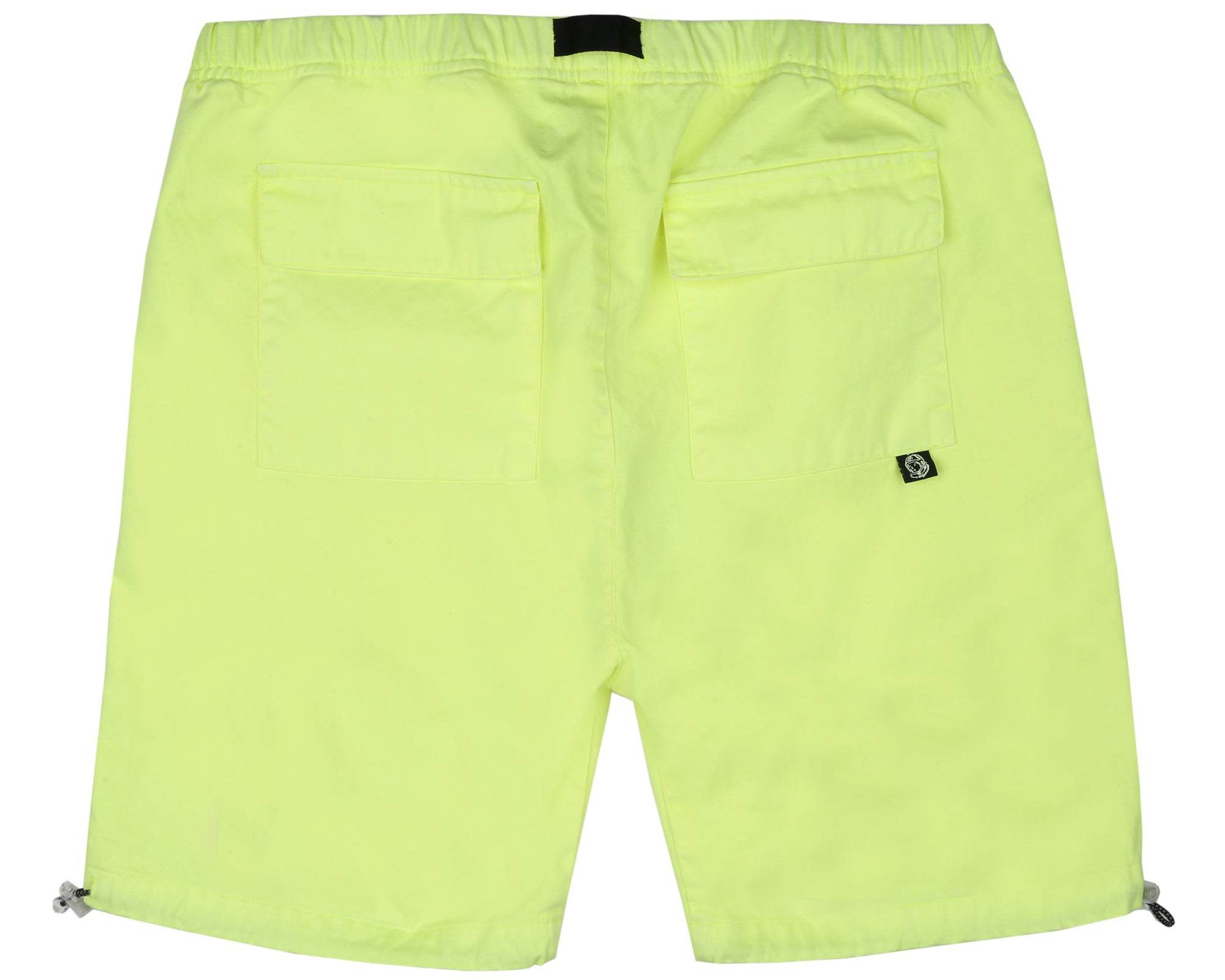 OVERDYED COTTON SHORTS - YELLOW