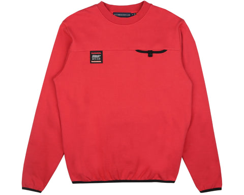 Billionaire Boys Club Pre-Fall '19 CUT & SEW POCKET CREWNECK - RED