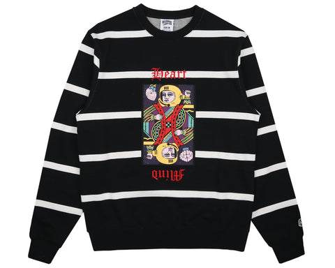 Billionaire Boys Club Spring '18 STRIPED CREWNECK - BLACK