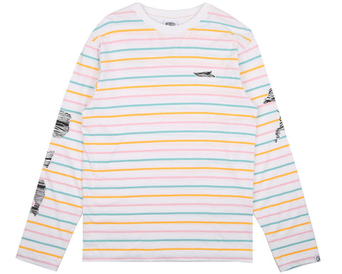 Billionaire Boys Club Pre-Fall '17 CANDY STRIPE L/S T SHIRT - WHITE