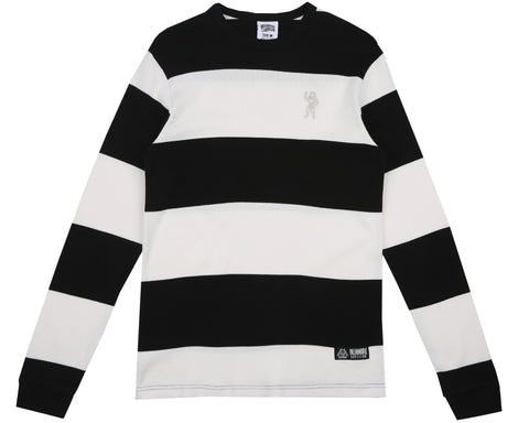 Billionaire Boys Club Pre-Spring '18 STRIPEY THERMAL L/S T-SHIRT - WHITE
