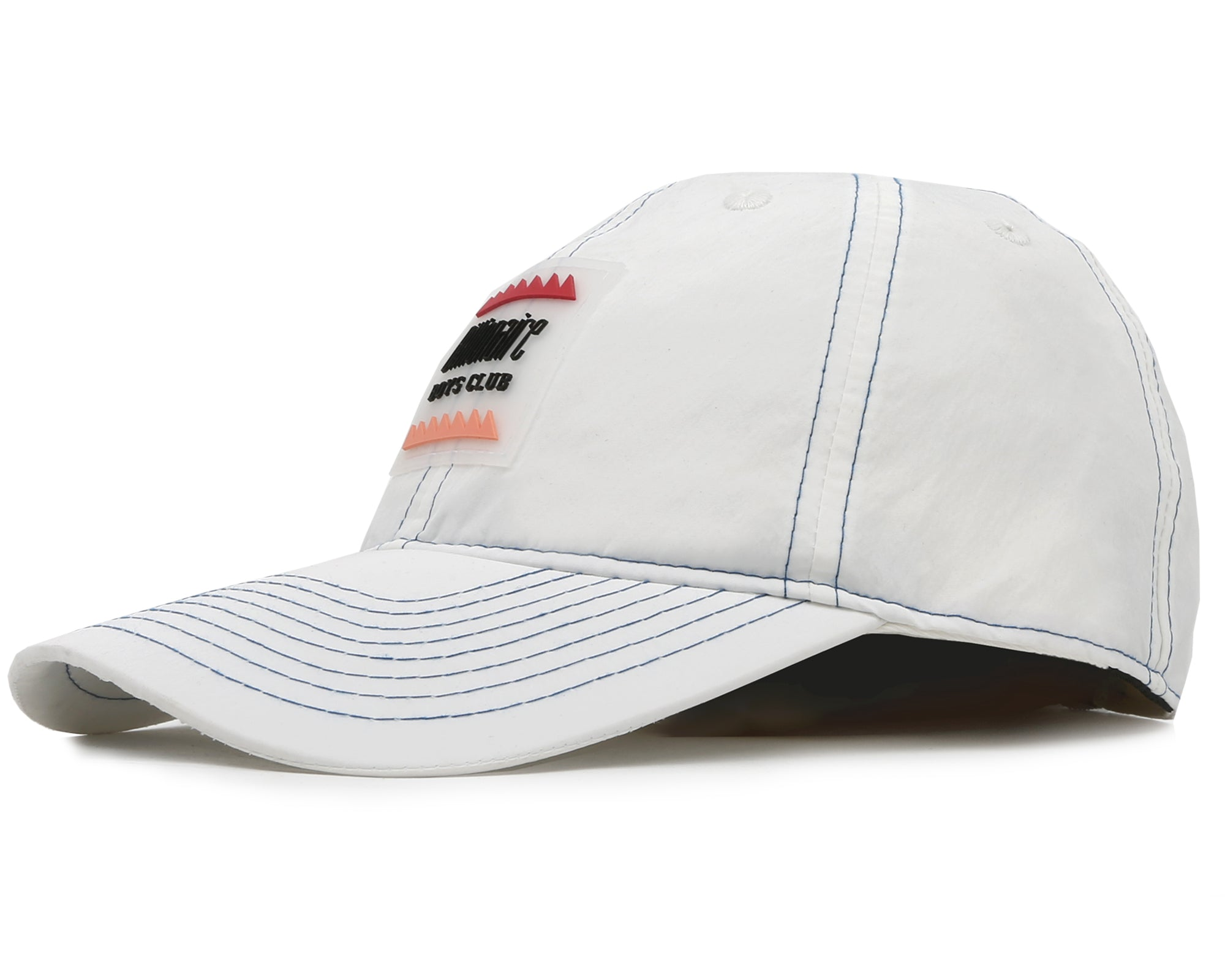 NYLON CURVED VISOR CAP - WHITE