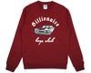 Billionaire Boys Club Pre-Spring '17 CAR CLUB CREWNECK - BURGUNDY