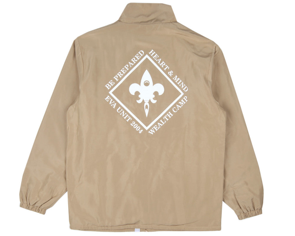 Billionaire Boys Club Fall '16 WEALTH CAMP COACH JACKET - BEIGE