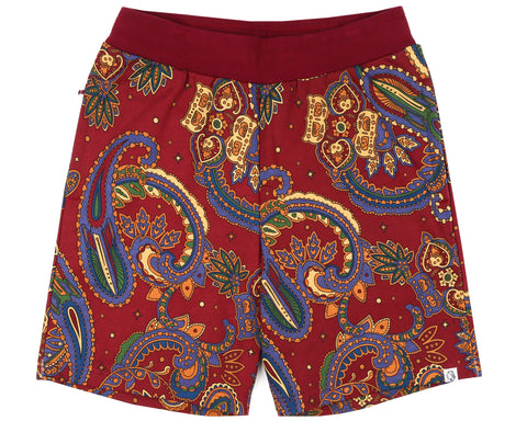 Billionaire Boys Club Fall '18 PAISLEY SWEATSHORT - RED