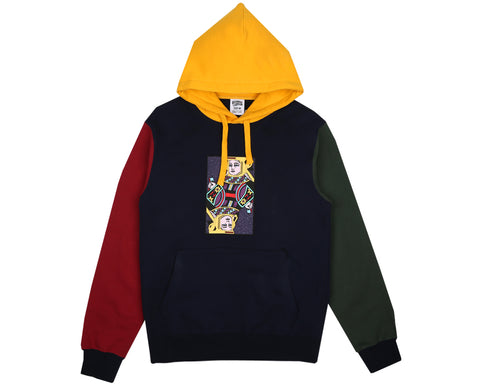 Billionaire Boys Club Spring '18 OMEGA PATCH POPOVER HOOD - NAVY/MULTI