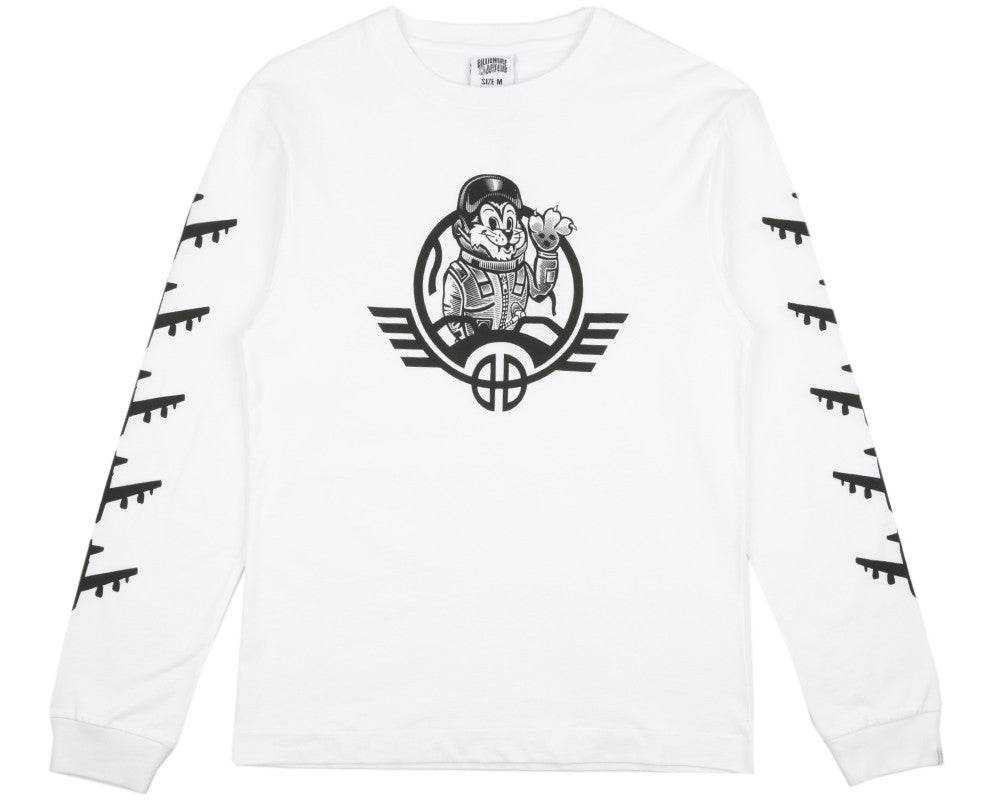 Billionaire Boys Club Spring '17 B-52 PRINT L/S T-SHIRT - WHITE