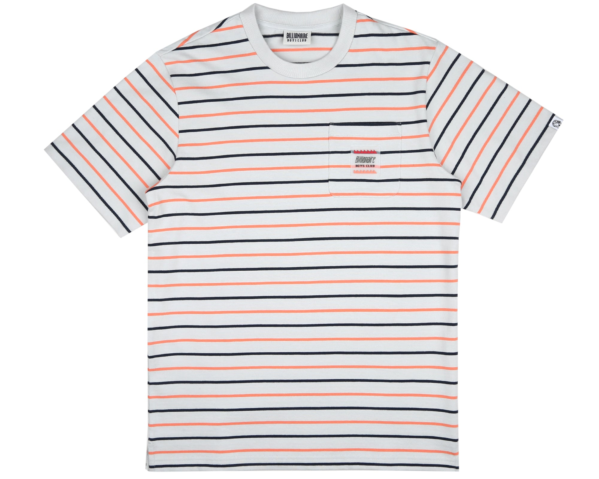 WOVEN STRIPE POCKET T-SHIRT - LIGHT BLUE
