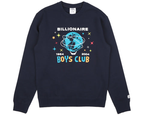 Billionaire Boys Club Pre-Spring '17 BILLION DOLLAR FAIR CREWNECK - NAVY