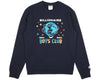 BBCICECREAM BILLION DOLLAR FAIR CREWNECK - NAVY
