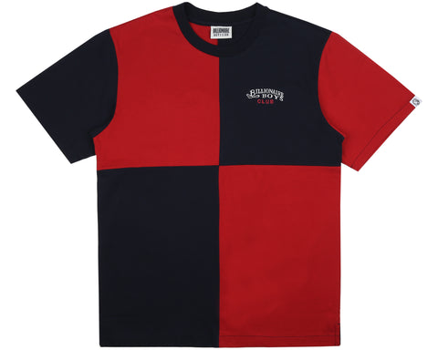 Billionaire Boys Club Spring '19 DIAGONAL CUT & SEW T-SHIRT - RED / BLUE