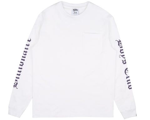 Billionaire Boys Club Fall '18 COLLEGE L/S POCKET T-SHIRT - WHITE