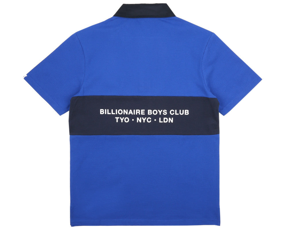 Billionaire Boys Club Pre-Spring '17 INTERNATIONAL ALLIANCE S/S POLO SHIRT - BLUE