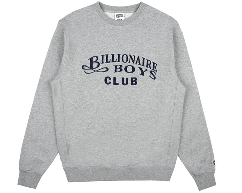 Billionaire Boys Club Fall '18 EMBROIDERED CREWNECK - HEATHER GREY