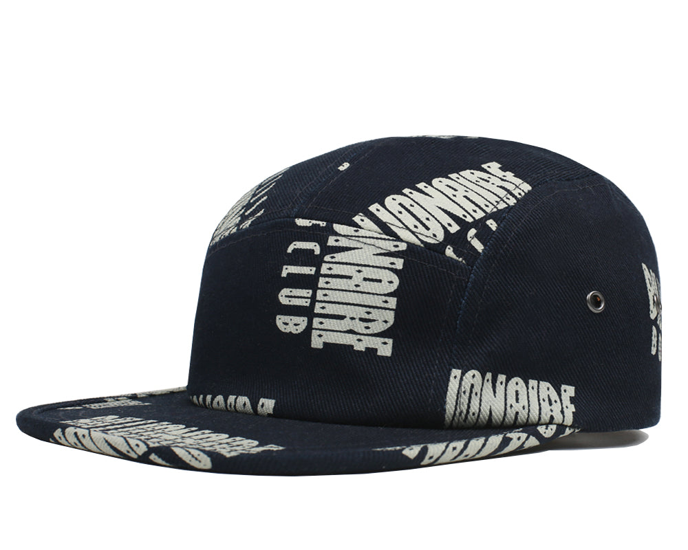 REPEAT PRINT 5 PANEL CAP - DRESS BLUE