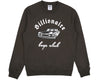 BBCICECREAM CAR CLUB CREWNECK - DARK GREY