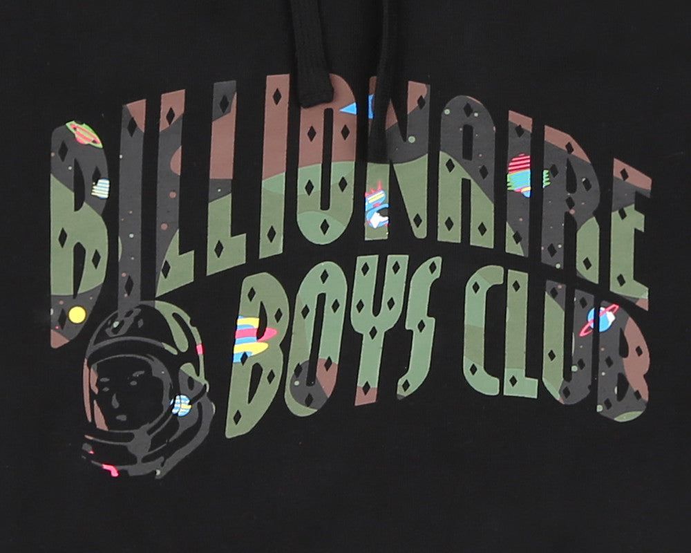 Billionaire Boys Club Fall '17 SPACE CAMO ARCH LOGO  POPOVER HOOD BLACK