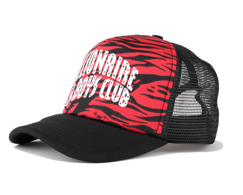 Billionaire Boys Club Spring '17 ZEBRA CAMO ARCH TRUCKER CAP - RED
