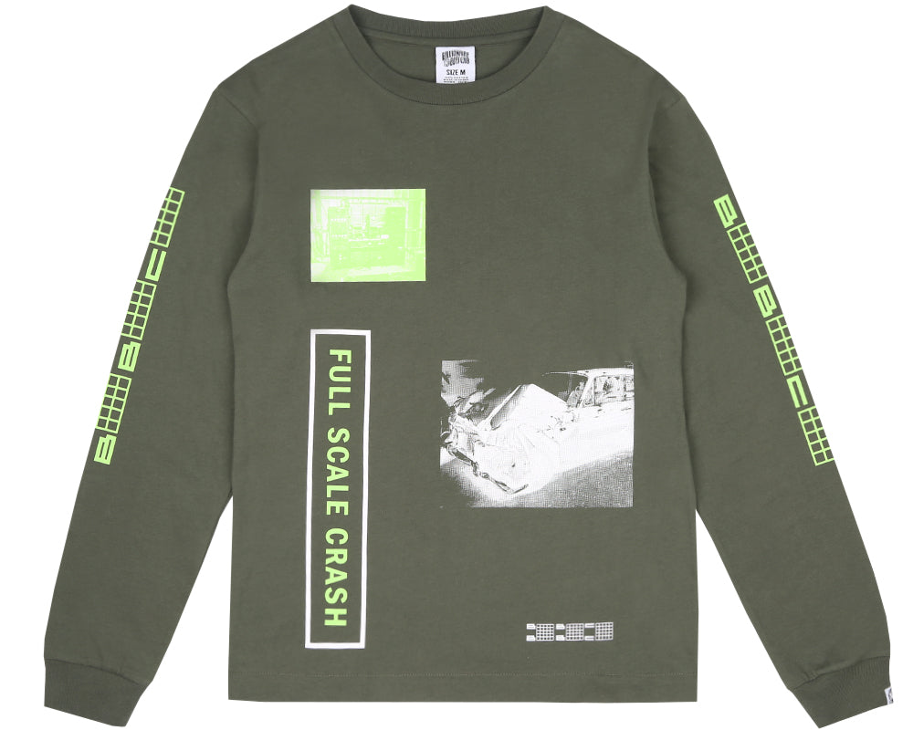 FULL SCALE CRASH L/S T-SHIRT - OLIVE