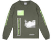 Billionaire Boys Club Pre-Spring '18 FULL SCALE CRASH L/S T-SHIRT - OLIVE