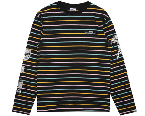 Billionaire Boys Club Pre-Fall '17 CANDY STRIPE L/S T SHIRT - BLACK