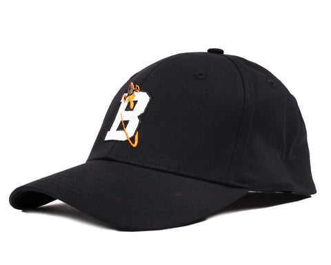 Billionaire Boys Club VARSITY B STRETCH FIT CAP - BLACK