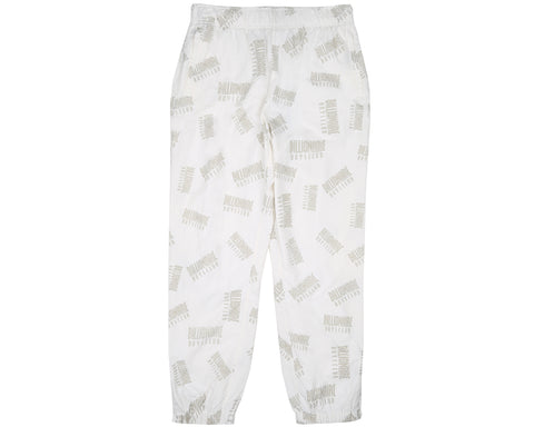 Billionaire Boys Club Spring '18 REPEAT PRINT TRACK PANT - WHITE