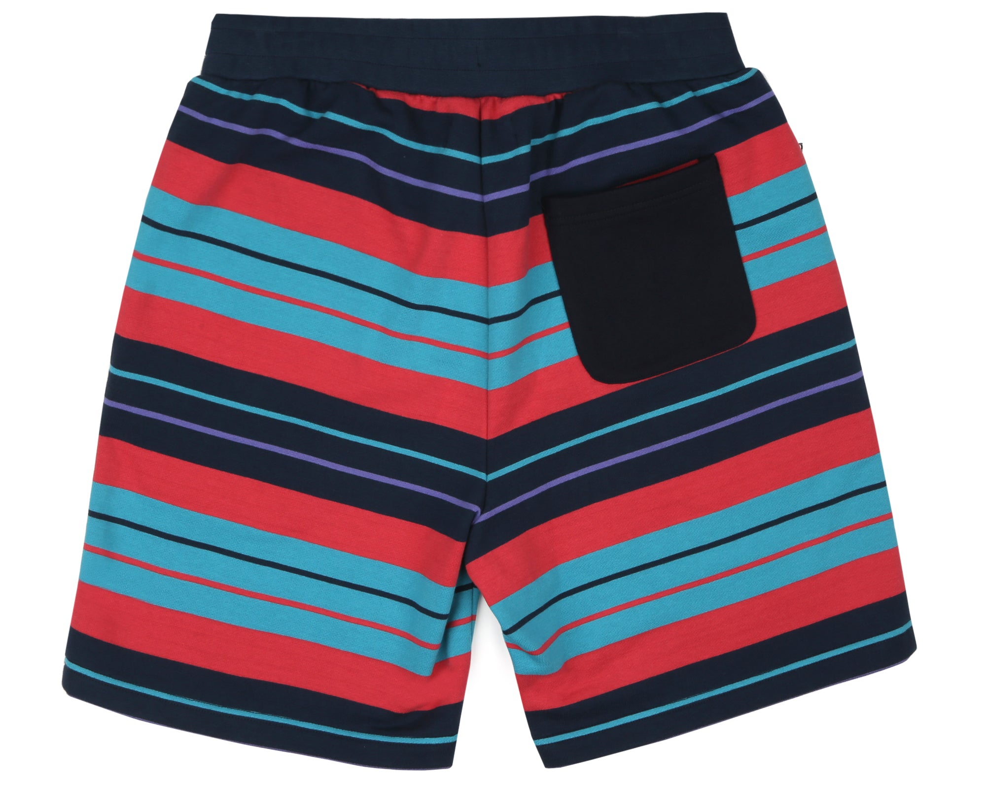 MULTI STRIPE SHORTS - NAVY