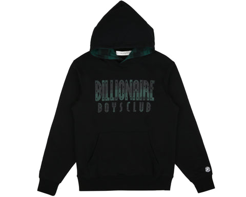 Billionaire Boys Club Spring '19 DIGI CHECK FILL POPOVER HOOD - BLACK
