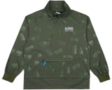 Billionaire Boys Club Fall '17 REPEAT PRINT PULLOVER SMOCK OLIVE