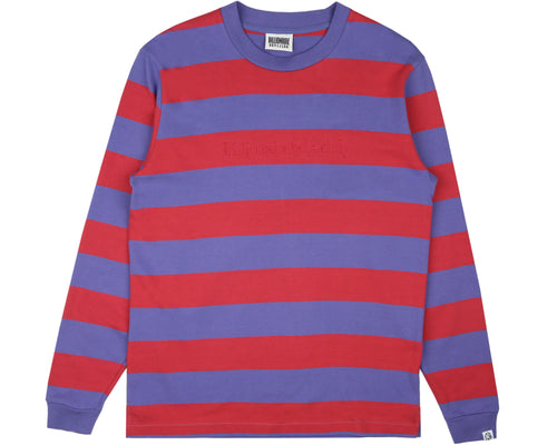 HEAVY STRIPED L/S T-SHIRT - RED