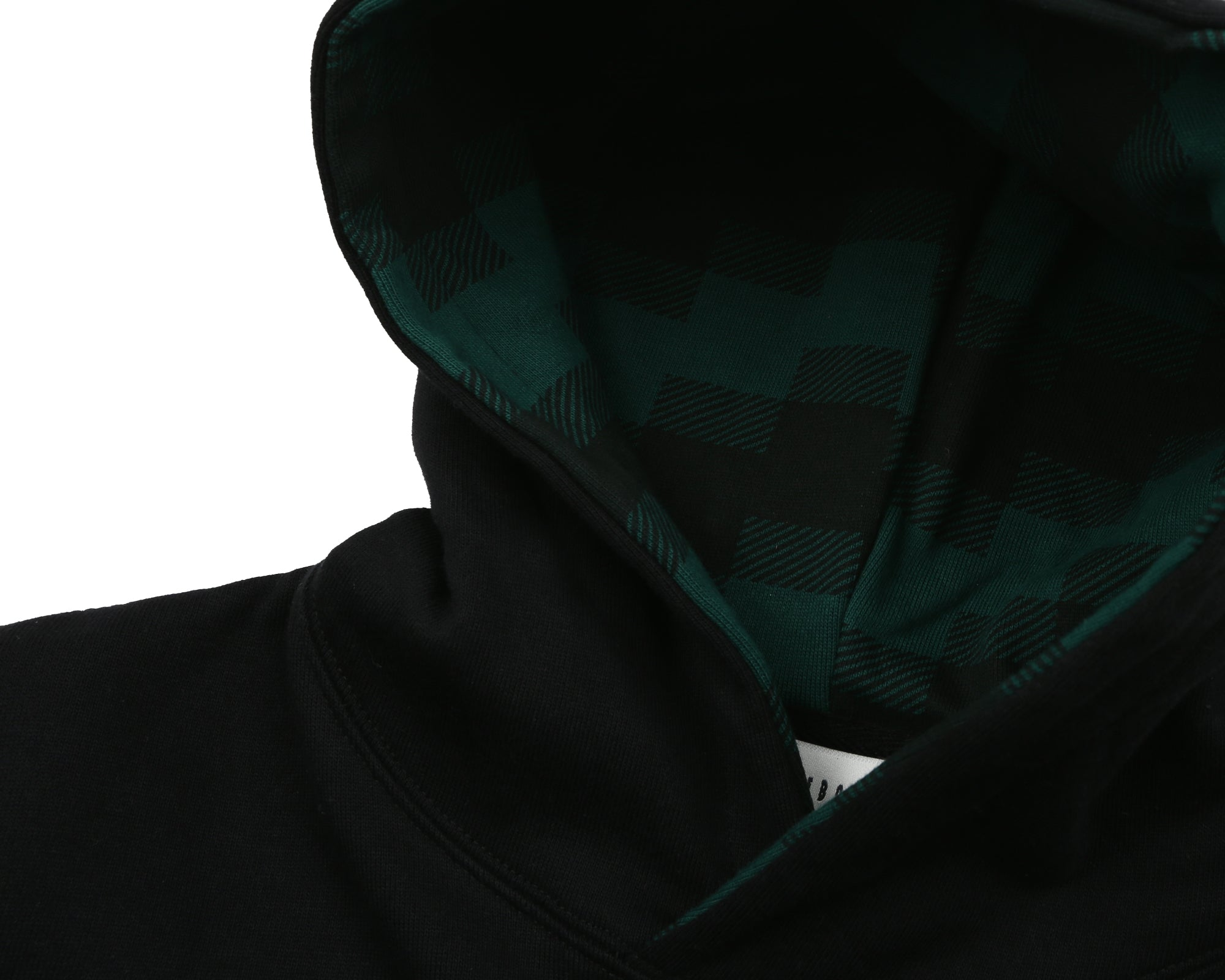 DIGI CHECK FILL POPOVER HOOD - BLACK