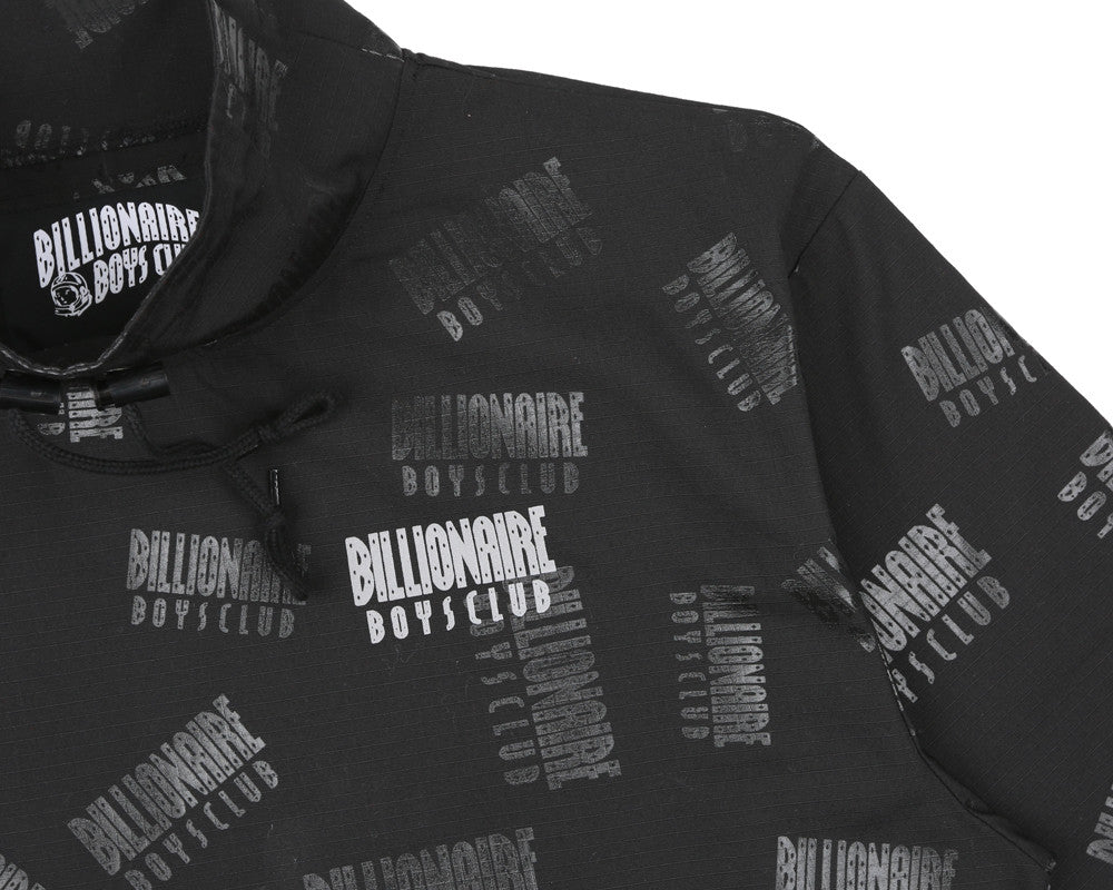 Billionaire Boys Club Fall '17 REPEAT PRINT PULLOVER SMOCK BLACK