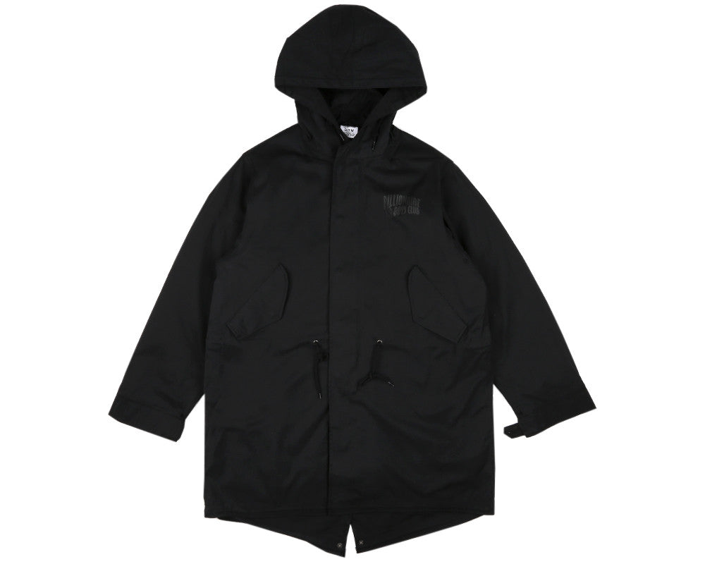 BBCICECREAM SPACE PARK FISHTAIL PARKA - BLACK