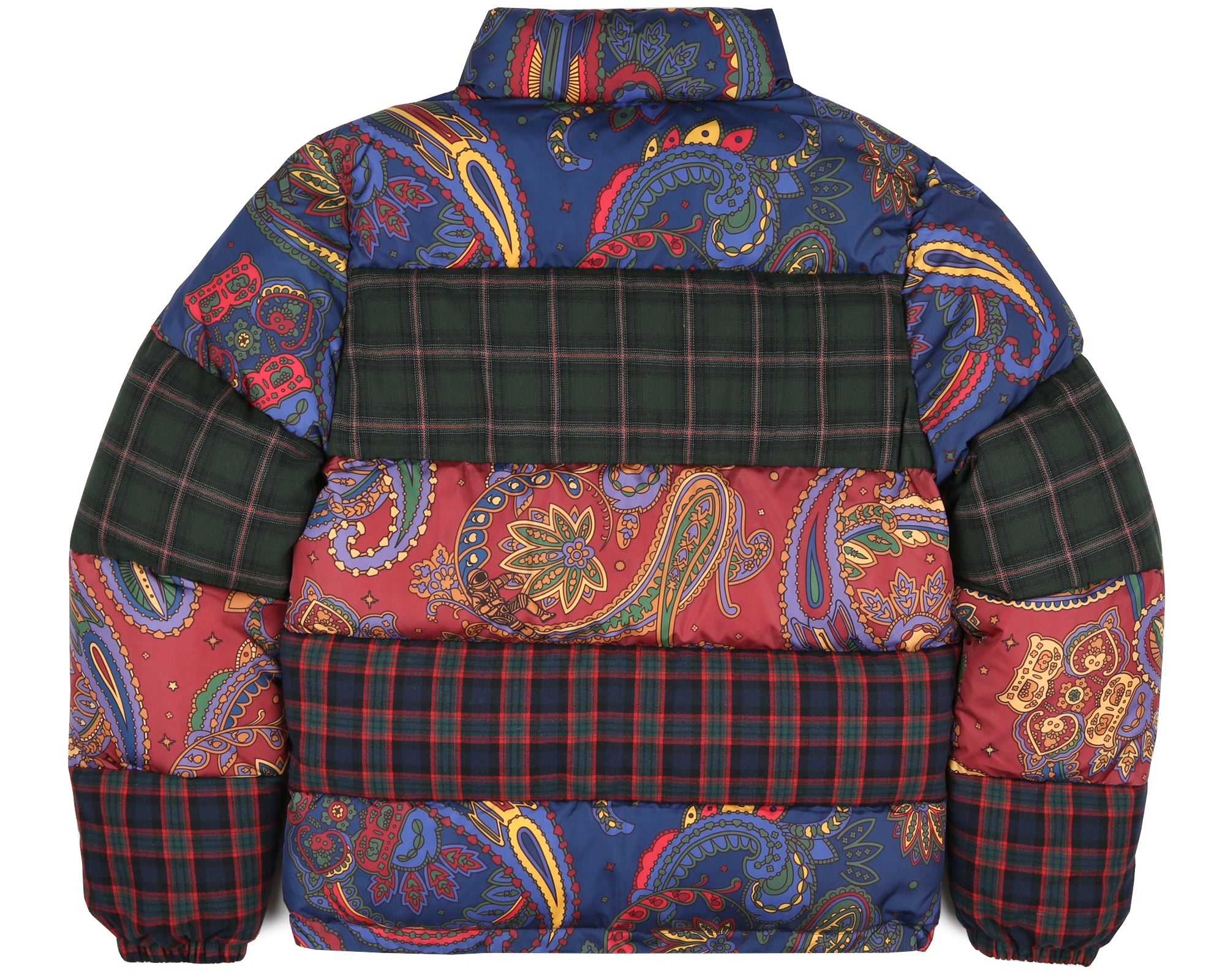PAISLEY CHECK DOWN JACKET - PAISLEY/CHECK