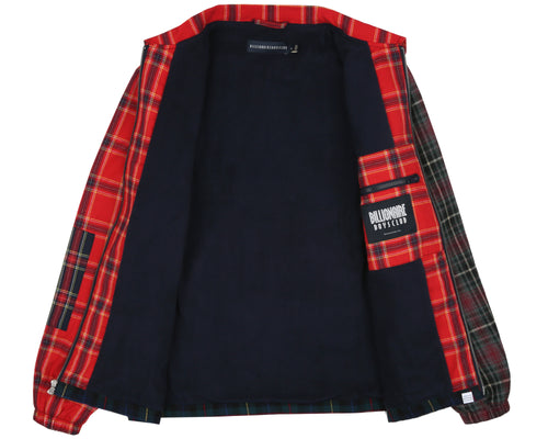 MULTI CHECK ZIP JACKET - NAVY