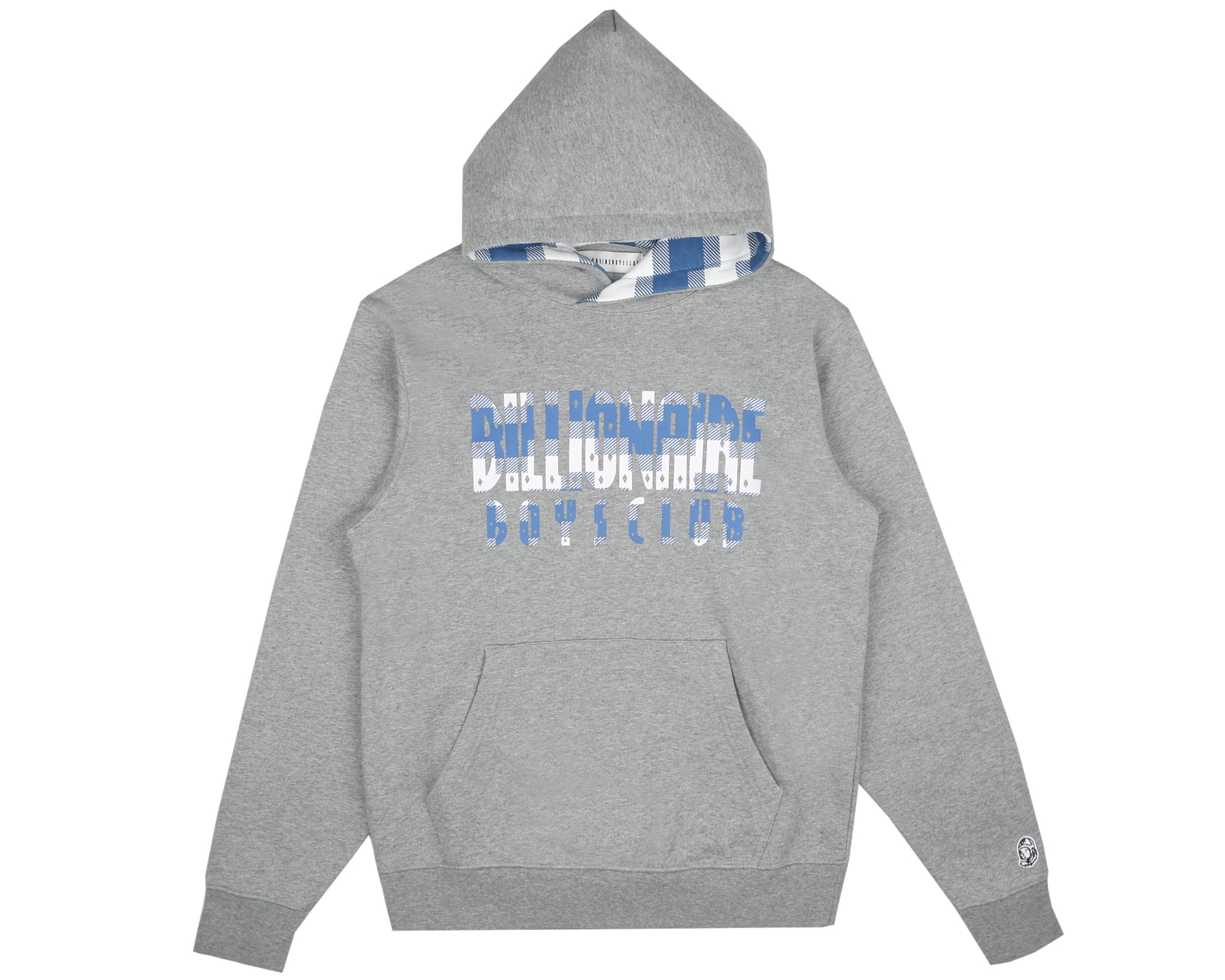 DIGI CHECK FILL POPOVER HOOD - HEATHER GREY