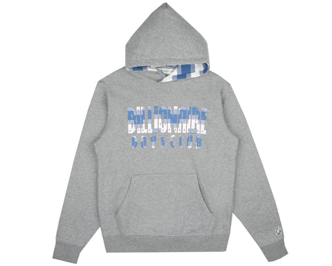 Billionaire Boys Club Spring '19 DIGI CHECK FILL POPOVER HOOD - HEATHER GREY