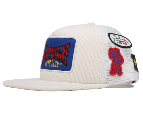 Billionaire Boys Club Pre-Spring '19 MOTOR PATCH TRUCKER CAP - OFF WHITE