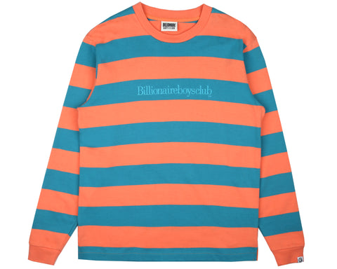 Billionaire Boys Club Pre-Fall '19 HEAVY STRIPED L/S T-SHIRT - CORAL
