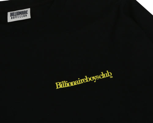 CUT & SEW L/S T-SHIRT - BLACK