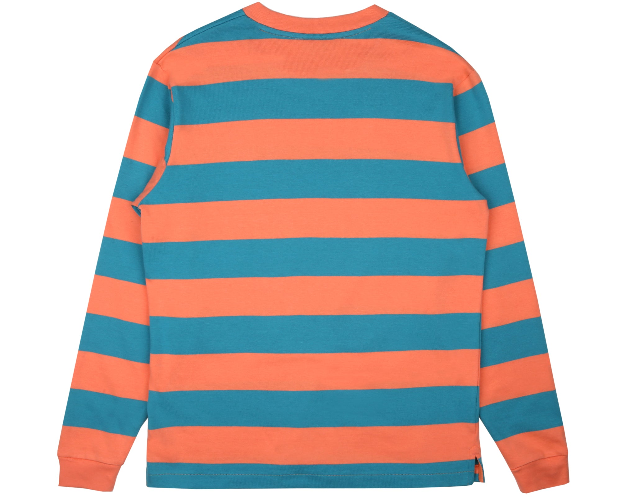 HEAVY STRIPED L/S T-SHIRT - CORAL
